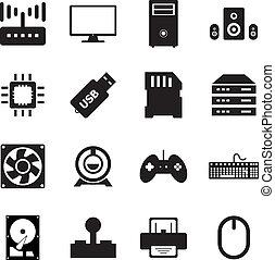 Computer hardware icon