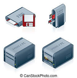 Computer Hardware Icons Set - Design Elements 55c