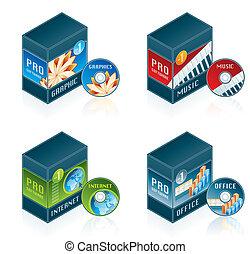 Computer Hardware Icons Set - Design Elements 57d