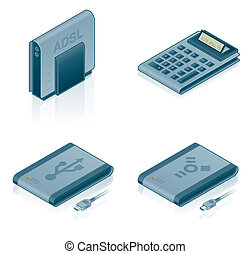 Computer Hardware Icons Set - Design Elements 55a