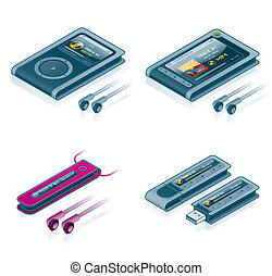 Computer Hardware Icons Set - Design Elements 57b, it's a high resolution image with CLIPPING PATH for easy remove unwanted shadows underneath