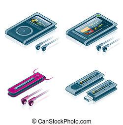 Computer Hardware Icons Set - Design Elements 57b, it's a ...