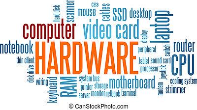 computer hardware, woord, wolk, bel, label, boompje