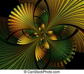 computer hat erzeugt, fractal, kunstwerk