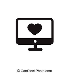 computer Heart  in desktop