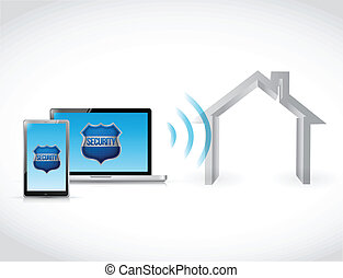 computer home security software illustration