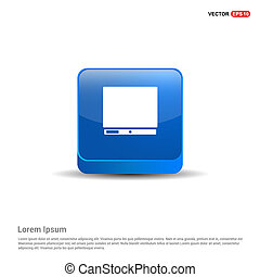 Computer Icon - 3d Blue Button