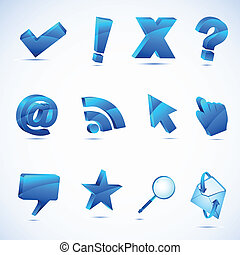 Computer Icon - illustration of set of computer application...