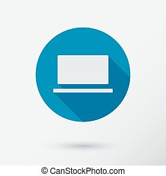 Computer icon in flat style.