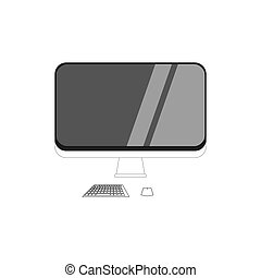 computer icon on a white background