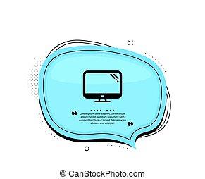 Computer icon. PC component sign. Monitor symbol. Vector
