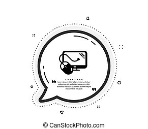 Computer icon. PC mouse component sign. Monitor symbol. Vector