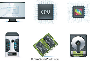 Computer icon set. P.1 - Set of the computer devices related...