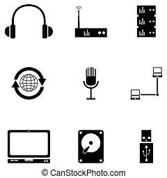 computer icon set