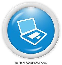 computer icon - 3d computer icon - computer generated...