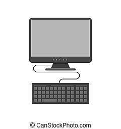 Computer icon. Symbol in trendy flat style isolated on white background.