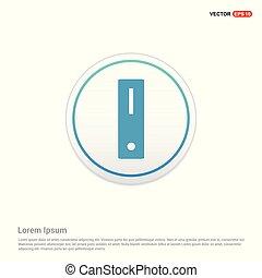 Computer icon - white circle button