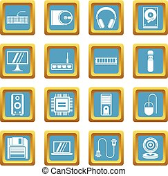 Computer icons azure