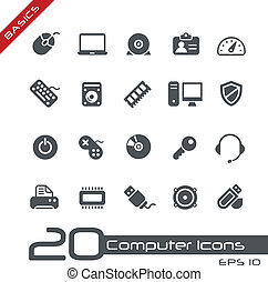 Computer Icons // Basics - Vector icons for your web or ...