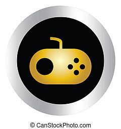 Computer icons, gaming devices.