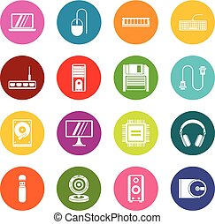 Computer icons many colors set