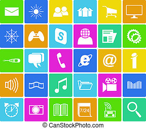 Computer icons set. - Buttons with computer icons.