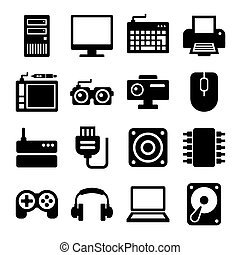 Computer Icons Set. Vector