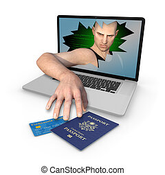 Computer Identity Theft of US Passport and Credit Card