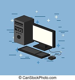 computer image flat vector icon illustration design graphic
