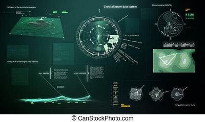 computer, interfaccia, 2, cappio