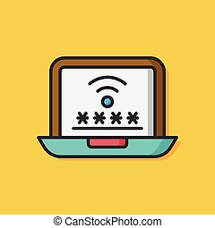computer internet Protection icon