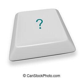 Computer Key - Question Mark