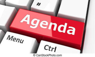 Computer keyboard Agenda