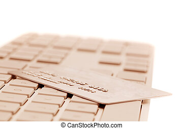 Computer keyboard and credit card