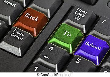 "Computer keyboard "" Back to school """