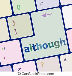 Computer keyboard button with altrough word on it vector illustration