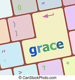 Computer keyboard button with grace button