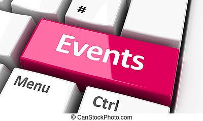 Computer keyboard events