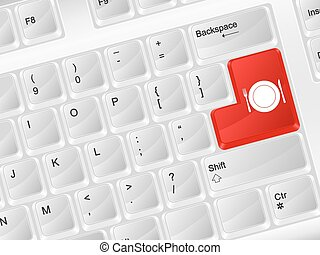 computer keyboard food - White computer keyboard food....