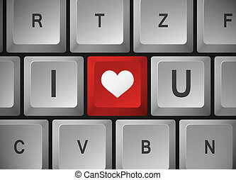 "Computer keyboard "" I Love U """