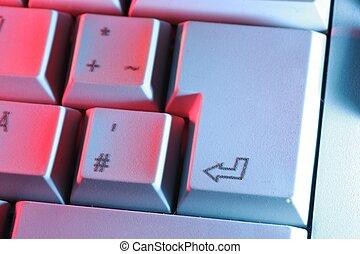 Keyboard - Computer-Keyboard in colorful lighting