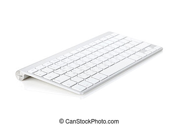 Computer keyboard. Isolated on white background