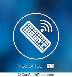 Computer keyboard key sign icon, vector illustration.