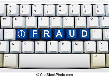 Getting information about Online Fraud - Computer keyboard...