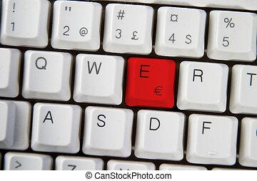 Computer Keyboard Letter E