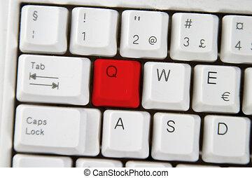 Computer Keyboard Letter Q