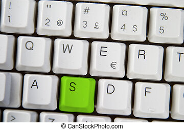 Computer Keyboard Letter S