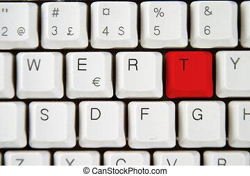 Computer Keyboard Letter T