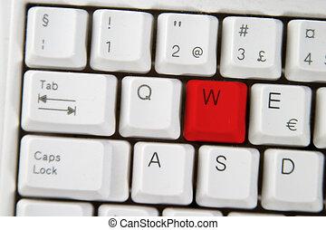Computer Keyboard Letter W
