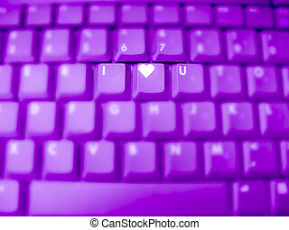 Computer Keyboard, letters Expressing I Love You